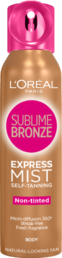 Loreal Sublime Bronze - Express Pro Mist - itseruskettava kuivasumute 150ml