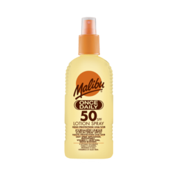 Malibu - Once Daily Aurinkovoide - Spray (SPF50)