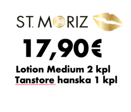 St. Moriz - Lotion Medium & Tanstore hanska (2+1)